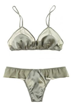 La Fee Verte Silk and Mesh Shortie, $48, available at Journelle.