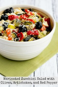 Marinated Zucchini Salad With Olives Artichokes and Red  Mein Blog: Alles rund um Genuss & Geschmack  Kochen Backen Braten Vorspeisen Mains & Desserts!