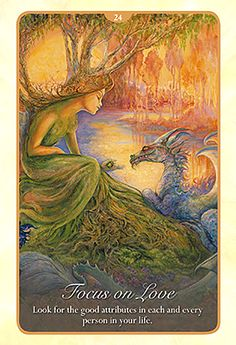 """24 Focus on Love"" Oracle Cards Whispers of Love par Josephine Wall and Angela Hartfield"
