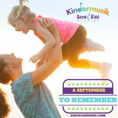 It will be a September to remember. Kindermusik at Grow and Sing Studios. Enroll today. Classes begin Monday in 10 locations. www.growandsing.com #kindermusik #connections #love #music