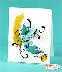 Stampin Up Work of Art Stamp Set card by Sandi @ www.stampingwithsandi.com