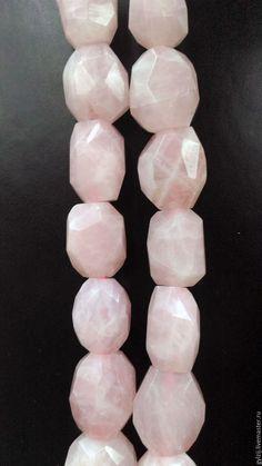 Для украшений ручной работы. Ярмарка Мастеров - ручная работа. Купить Розовый кварц, крупные бусины граненные. Handmade. Бусины