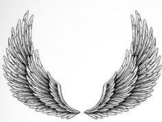 Angel Wings Free Tattoo Stencil - Angel Wings Free Tattoo Designs For Women - Angel Wings Free Printable Tattoo Stencils.