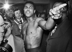 Muhammad Ali. 'Get outta my face'.