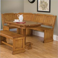 Corner Kitchen Table with Bench Innovation Corner Kitchen Tables, Corner Dining Set, Kitchen Table Bench, Kitchen Seating, Cherry Wood Cabinets, Corner Bench Seating, Corner Furniture, Decorating Coffee Tables, Cool House Designs