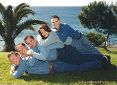 Let's come up with the most ridiculous group pose possible, and do that.  Yes, it's going to be awesome...