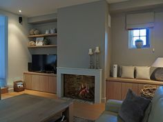 Sierschouwen to come up with a sosierschouwen Interior Design Living Room Modern, Home And Living, House Interior, Apartment Renovation, Home Living Room, Living Room Units, New Living Room, Living Room Remodel, Interior Design Living Room Warm