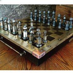 Mekanik satranç 👏🏻👏🏻👏🏻 Satranç sevenler burada mi ? #tasarim #engineer #satranç
