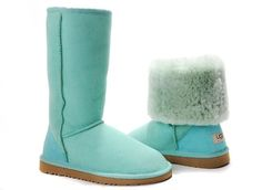UGG. I normally don't care for UGGS but I am diggin the blue!!