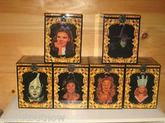 Complete Set Wizard of Oz Music Boxes - Need the ones that open and close - there are smaller ones that stay open.