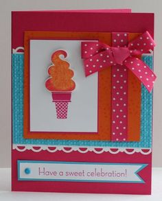 card #card #cardmaking #icecream #celebration