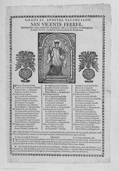 Gozos al apostol valenciano San Vicente Ferrer :  [Texto impreso] venerado ... en la iglesia parroquial de Santo Thomas Apostol de Valencia ..