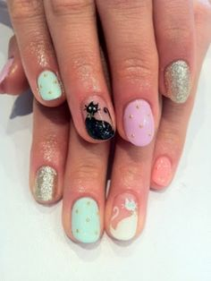Lush Fab Glam: Style Me Pretty: Whimsical And Cartoon Nail Art Designs.