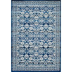 nuLOOM Traditional Persian Vintage Dark Blue Rug (7'10 x 10'10) - Overstock™ Shopping - Great Deals on Nuloom 7x9 - 10x14 Rugs