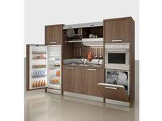ZEUS | Mini kitchen with tambour doors