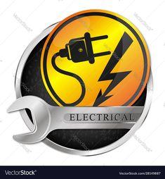 Electricity repair and service symbol Royalty Free Vector , Fish Vector, Dog Vector, Vector Free, Fish Silhouette, Silhouette Vector, Home Symbol, Paint Vector, Coffee Vector, Beauty Salon Design
