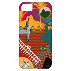 コルコバードのキリストに、#イパネマ/ #コパカバーナ海岸沿いのモザイク、ポンジアスーカルに水道橋。#リオデジャネイロの象徴が詰まった iPhone 5Cケース。 #zazzle