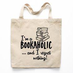 Bookaholic Canvas Tote Bag
