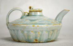 "Chinese Qingbai Glaze Porcelain Teapot Length - 5 5/8"" Height - 2 7/8"" Song Dynasty"
