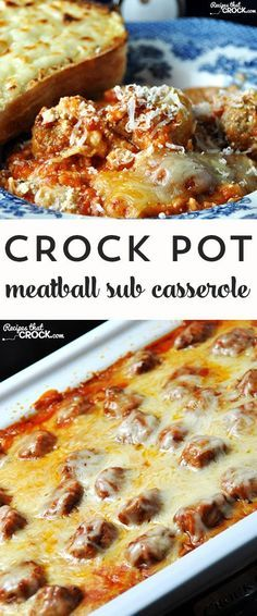 If you love meatball subs, then you want to check out this awesome Crock Pot Meatball Sub Casserole