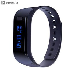 InnKoo U1 Waterproof Fitness Tracker Pedometer Watch Band Calories Counter Smart Sports Bracelet Wristband Activity and Sleep Monitor Bluetooth Sync Antilost Longtime Standby Black *** You can find more details by visiting the image link.
