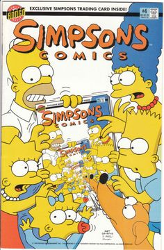 ITEM – comic book Simpsons Comics Issue #4 1994'It's In the Cards' Backed w/ The Gnarly Adventures of Busman includes an unopened Simpsons trading c... #book #trading #card #comic #color #comics #cards #simpsons