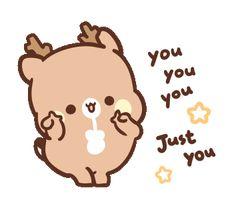 Cute Love Cartoons, Cute Cartoon, Kawaii Stickers, Cute Stickers, Kawaii Drawings, Cute Drawings, Animated Emojis, Trippy Gif, Amazing Gifs