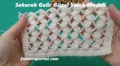Sekerek Gelir Güzel Yelek Modeli Crochet Crocodile Stitch, Crochet Stitches, Crochet Cardigan, Crochet Hats, Moda Emo, Merino Wool Blanket, Retro, Knitting Patterns, Create