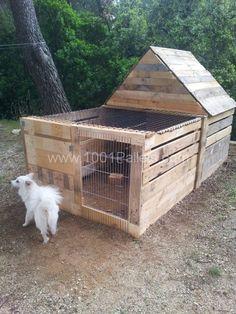 Maisonnette pour lapin. Rabbit's house | 1001 Pallets