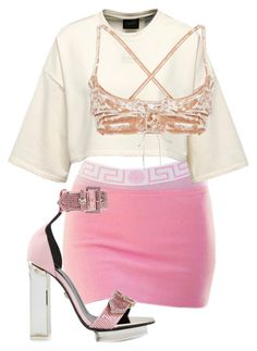 """""""Untitled #207"""" by be-marta ❤ liked on Polyvore featuring Versace and vintage"""