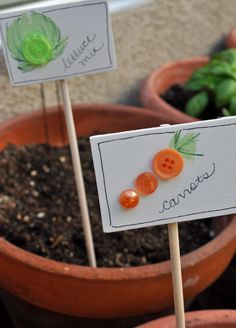 button garden markers