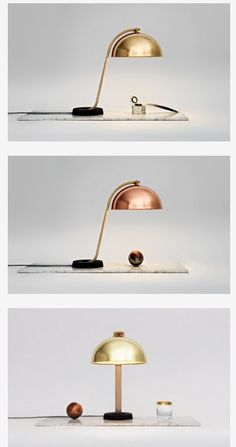 Copper desk light