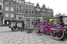 Stock photo of pink bicycle 50787075 - image 50787075