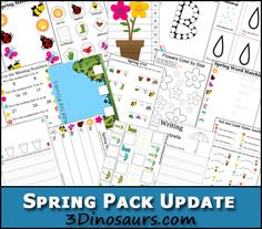 Free Spring Printable Pack (80+ Pages) | Free Homeschool Deals ©