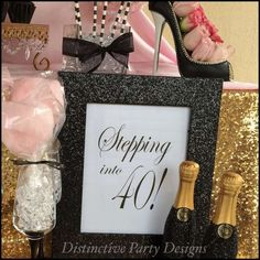 Fashionable 40th birthday party! See more party planning ideas at CatchMyParty.com!