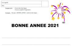 Une petite activité de graphisme sur le thème de la nouvelle année. Cycle 1, Happy New Year, Preschool