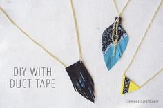 DIY: 3 Duct Tape Necklaces   Video Tutorial