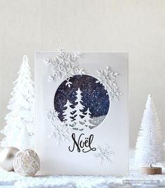 Christmas Card Crafts, Homemade Christmas Cards, Christmas Cards To Make, Homemade Cards, Holiday Cards, Simple Christmas, Beautiful Christmas Cards, Cricut Christmas Cards, Stamped Christmas Cards
