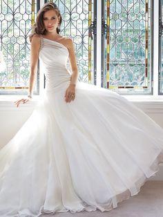 01f939caa0d7 Organza Pleated Wedding Dresses A Line Bridal Gown Custom Size 4 6 8 10 12  14