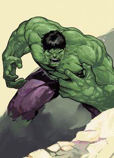 "cyberclays: "" Hulk - fan art by Dave Seguin "" Hulk Comic, Hulk Avengers, Hulk Marvel, Marvel Heroes, Ms Marvel, Captain Marvel, Comic Book Heroes, Comic Books Art, Comic Art"