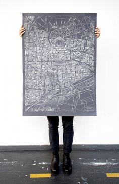 Karlsruhe-Karte von Larissa und Michelle Mantel