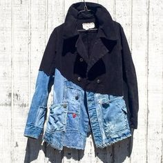 Image result for recycled jeans jacket