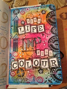 So after a goods night sleep I just had to add a bit more to it !! Art journal…
