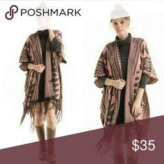 Aztec Poncho💕 Aztec poncho. 100% acrylic. Fashionomics Sweaters Shrugs & Ponchos
