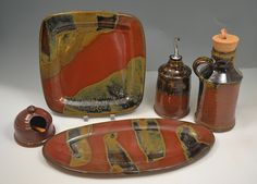 Serving Set by Amy Manson Pottery, Leesburg,VA