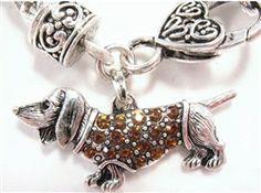 Dachshund Pandora Style Bark for the Cure Bracelet Dachshund Love