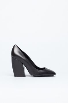 Pierre Hardy Structured Pump (Black Leather)