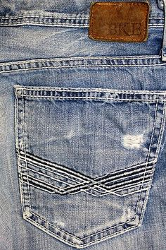 BKE Denim Buckle Carter Boot Cut Thick Stitich Destroyed 30 x 35 Long Low Rise