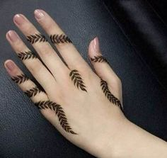 Health, Fashion, Mehindi, Dressing : Mehindi design for Eid lovely Finger Henna Designs, Stylish Mehndi Designs, Mehndi Designs For Fingers, Beautiful Henna Designs, Best Mehndi Designs, Bridal Mehndi Designs, Henna Tattoo Designs, Mehandi Designs, Arte Mehndi