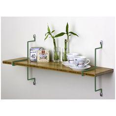 Assa Design Single Bamboo Shelf with Straight Brackets